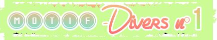 Motifs - Divers - N°1