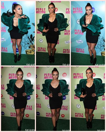 Kat  au Perez Hilton's Mad Hatter Birthday  Le 24 Mars 2012 + Vidéo interview lors de la soirée d'anniversaire du bloggeur Perez Hilton