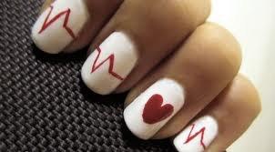 NailArt Cardiaque/Coeur.