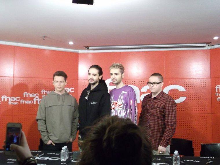 Séance dédicaces des Tokio Hotel fnac saint lazarre 2017