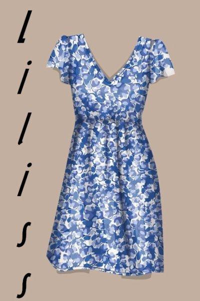 astuce simple pur une robe fleuri