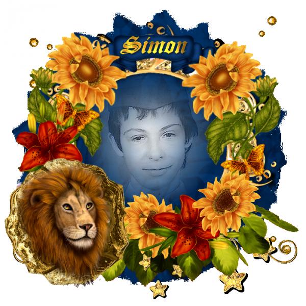 douces pensées pour mon Simon Quentin et Thierry qui sont nés sous le signe du Lion bisous volant dans votre paradis blanc
