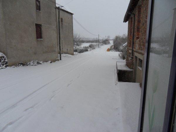 et voila la neige est arriver