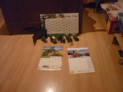 miniature,document,calendrier john deere