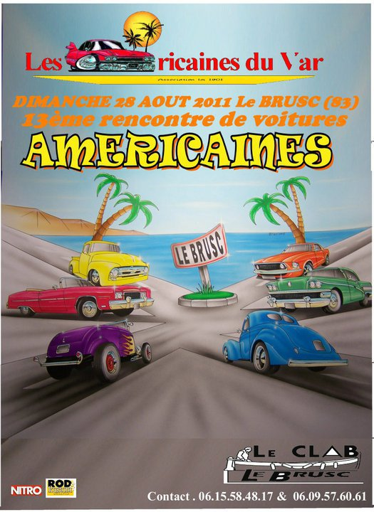 Rassemblement voitures americaines