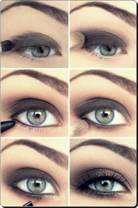 maquillage simple tuto yeux bleu
