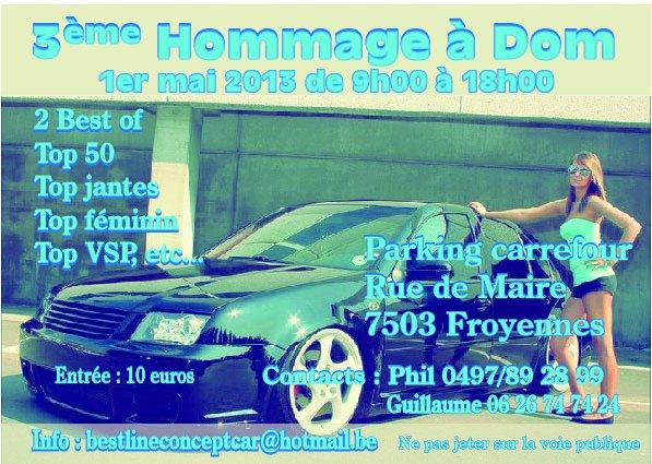 Flyer 3ème Hommage à Dom 2013