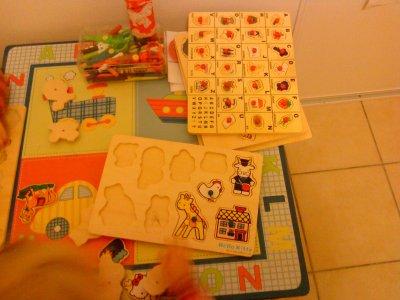 Jeux puzzle en bois
