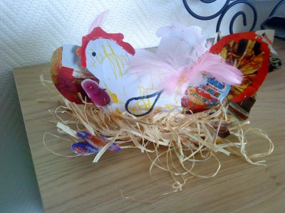 Nos poules de Pâques!