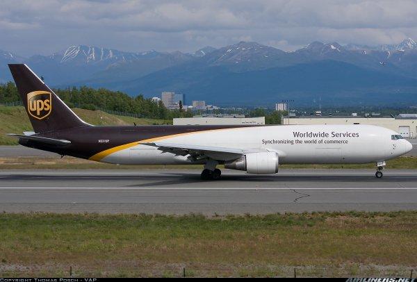 Un magnifique Boeing 767-300 d'UPS prise de Airliners.com