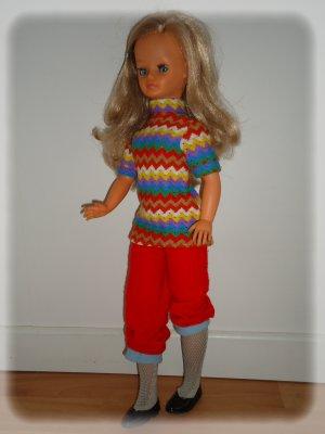Cathie collants gris de 1972