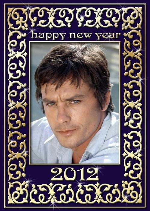 bonne année 2012 avec Alain Delon