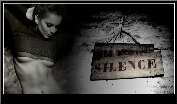 Par fois le silence est un art rare. ..!!