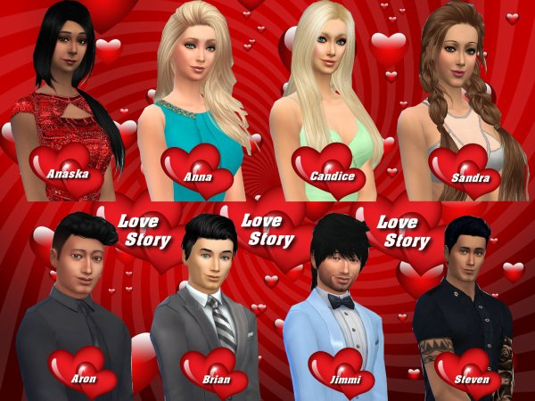 Love Story Sims - Candidats