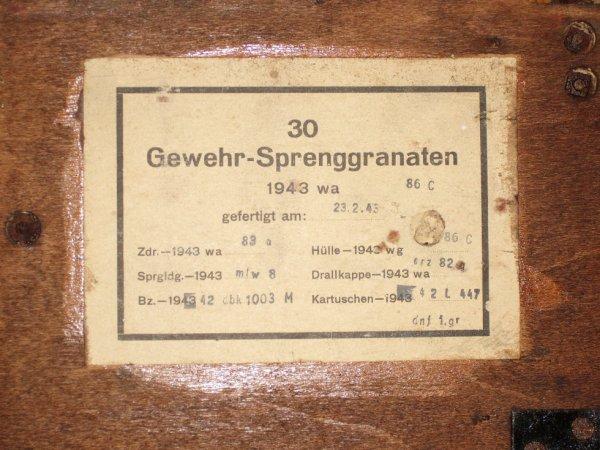 l'étiquette de la caisse