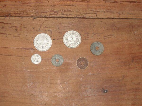 pieces de monnais periode 39-45