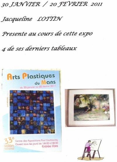 EXPO DES ARTS PLASTIQUES DU MANS