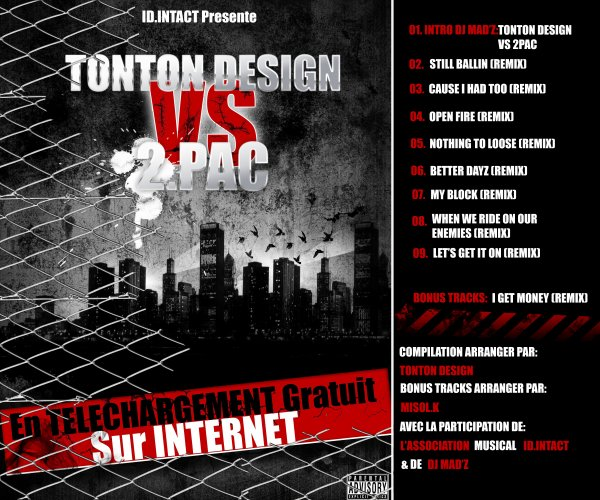 Artwork Créer Par TONTONDesign Pour La Mixtape TONTONDesign Vs 2Pac