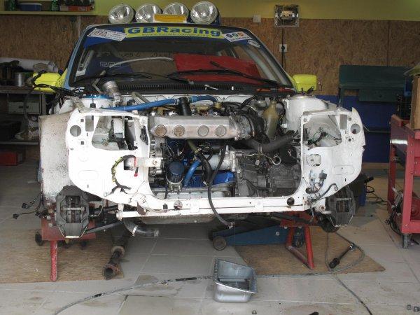 le moteur avant la depose