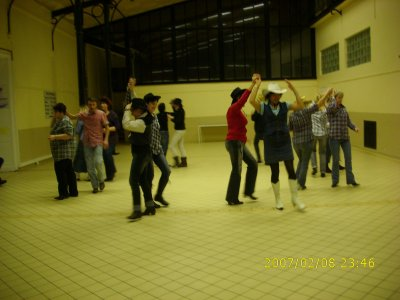 Décembre 2010 malgré le temps, il y avait quelques élèves au cours