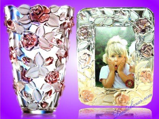 Vase ou cadre tout en cristal