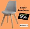 Très belle chaises grise design scandinave