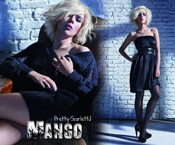 Scarlett J pour Mango, Collection automne-hiver 2009/2010