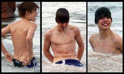 Justin Bieber super sexy à la plage !!!