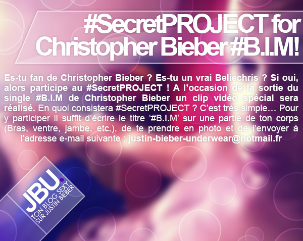 #SecretPROJECT for Christopher Bieber #B.I.M