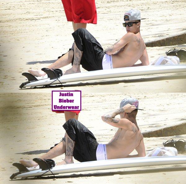 Justin Bieber Ultra SEXY qui fait du surf en Australie