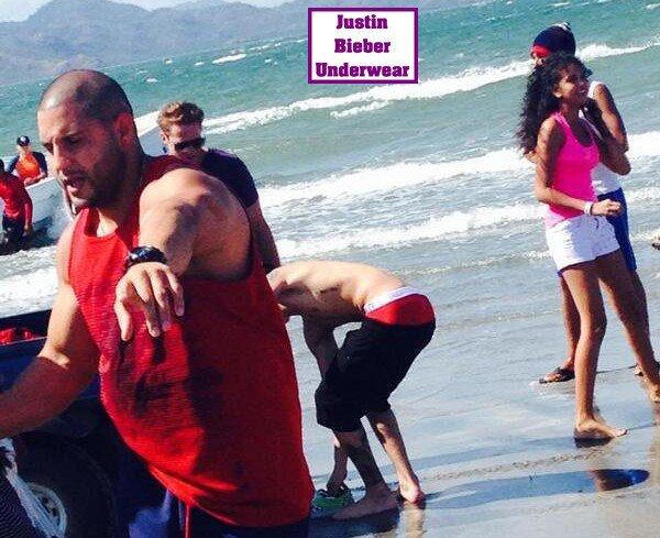 Justin Bieber Ultra SEXY (Boxer Rouge) à la plage de Panama ! Partie 4