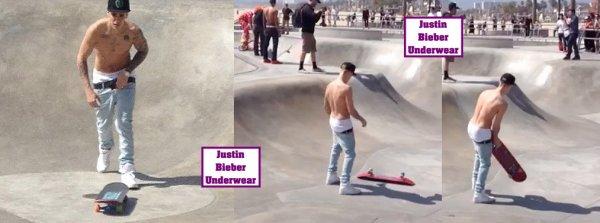 Justin SEXY qui fait du skate à Venice Beach !