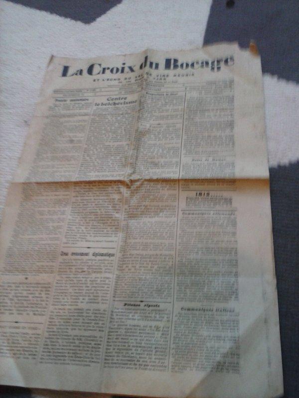 """journal ww2 """"la croix du bocage"""""""