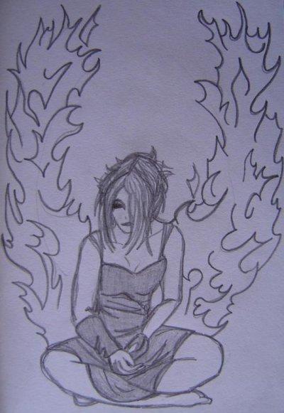 Les ailes en feu