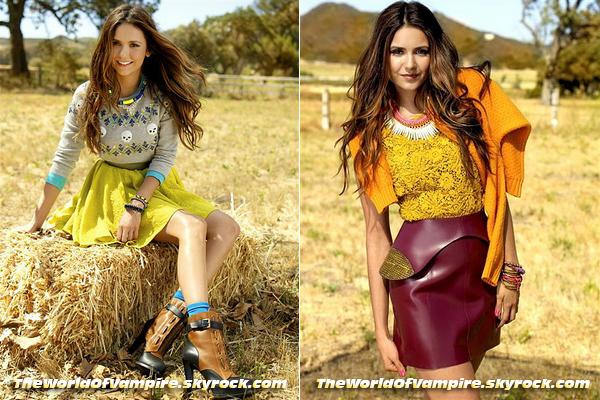 """Nina Dobrev pour """"Seventeen Magazine"""" : Octobre 2012 - 04/09"""