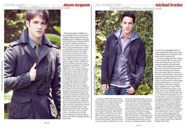 "Michael Trevino et Steven R. McQueen pour ""Zooey Magazine"" - 04/09"