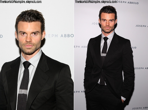 "Daniel Gillies à la ""Mercedes-Benz Fashion Week"" - 05/09"