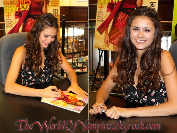 "Nina Dobrev ""Seventeen Magazine Cover Signing"" - 15/09"