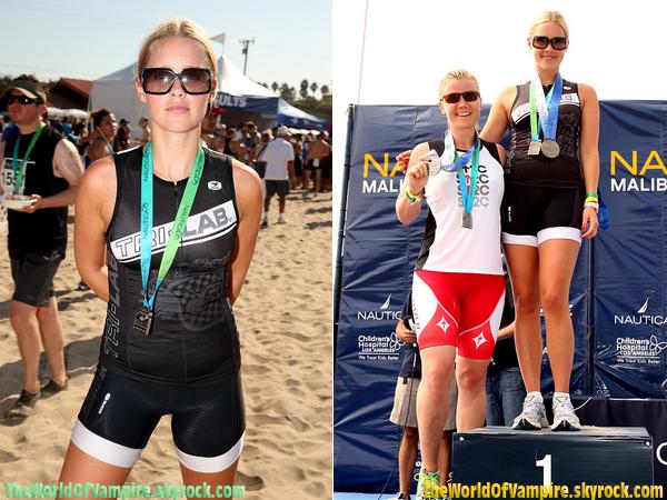 "Claire Holt participant au ""26th Annual Nautica Malibu Triathlon"" - 16/09"