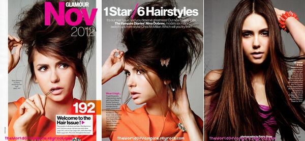 """Nina Dobrev pour """"Glamour"""" US Magazine / Novembre 2012 - 03/10"""