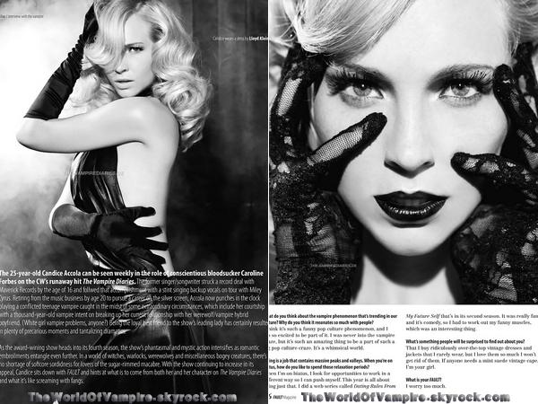 Candice Accola et Daniel Gillies pour Fault Magazine - 15/10