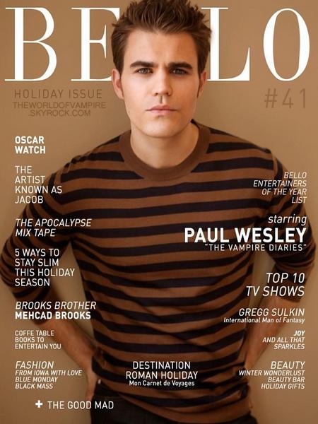 Paul Wesley pour Bello Magazine - Décembre 2012
