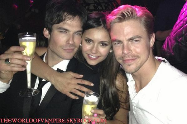 """Nina & Ian au """"Dior Glamour Dinner"""" (où Nina a fêté son anniversaire) - 09/01"""