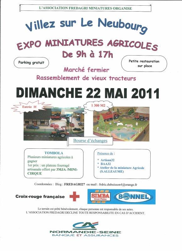 Exposition miniatures agricoles à VILLEZ SUR LE NEUBOURG (27)