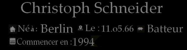 Christoph « Doom » Schneider