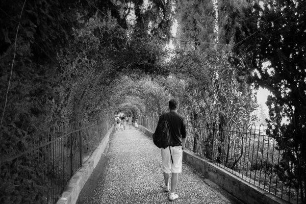 Je marche seule, je n'ai pas le choix.