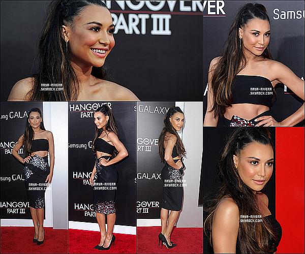 20/05/2013 : Naya été présente à l'avant première  de « The Hangover lll » avec Big Sean situé à Los Angeles.