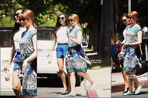 * 06/06/13 : Naya et sa co-star Dianna Agron sont allées manger dans un restaurant à    Los Feliz     en  Californie. *