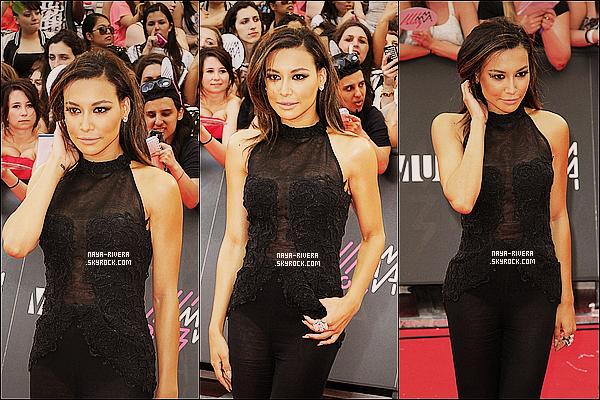 * 16/06/13 :  Naya Rivera était en compagnie de son boyfriend Big Sean pour les    MMVA 2013   situé  en  Californie. *
