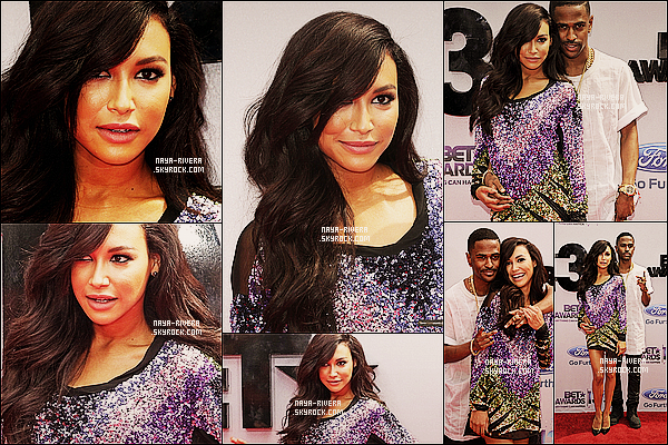* 30/06/13 :  Naya est allée au   BT Awards avec son petit ami Big Sean    au  Staples Center situé en Californie. *